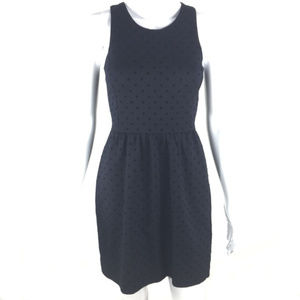 J Crew Midnight Blue Polka Dot Ponte Dress XXS